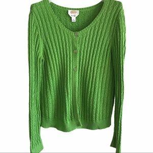 Talbots 100% Pima Cotton Cardigan Sweater L
